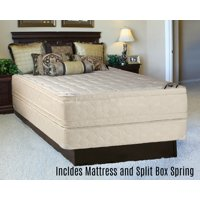 """Continental Sleep, 14-inch Fully Assembled Innerspring Double Sided Mattress and 8"""" Split Semi Flex Box Spring, King Size"""
