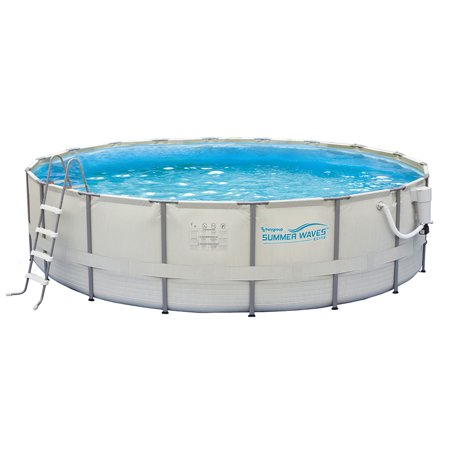 Summer Waves Elite 15-ft Round 48-in Deep Metal Frame Swimming Pool Package