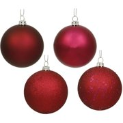 "Vickerman 6"" Wine 4-Finish Ball Ornaments, Set of 4"