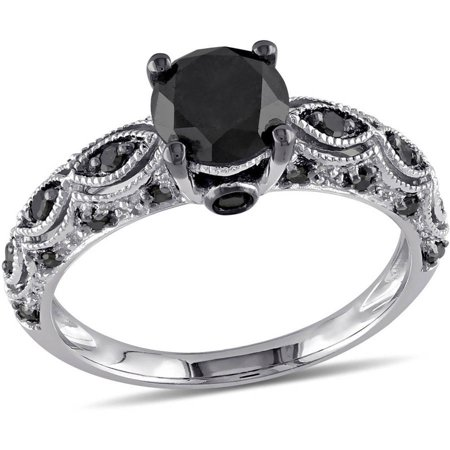1-1/4 Carat T.W. Black Diamond 10kt White Gold Engagement