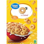 (2 Pack) Great Value O's Oat Cereal, 21 oz