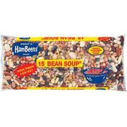 (4 Pack) Hurst's Hambeens W/Seasoning packet original Dried 15 Bean Soup, 20 oz