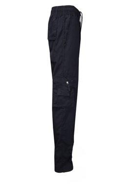 Urkutoba Men's Elasticated Waist Cargo Combat Trousers Pants.Up to size 3XL