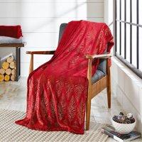Better Homes & Gardens Oversize Reversible Velvet Plush Throw Blanket, 1 Each