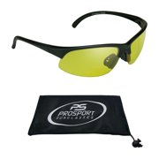 d20b804c5a7 proSPORT Bifocal Reader Sunglasses Half Rim Sport Style with Yellow Lens  for Night Driving or Riding