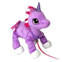 Deals on Peppy Pets Soft and Cuddly 11-in Walking Purple Unicorn