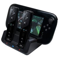 TekDeals 2x Battery + 3 in 1 Charger Dock Stand Station for Nintendo Wii U Gamepad Remote