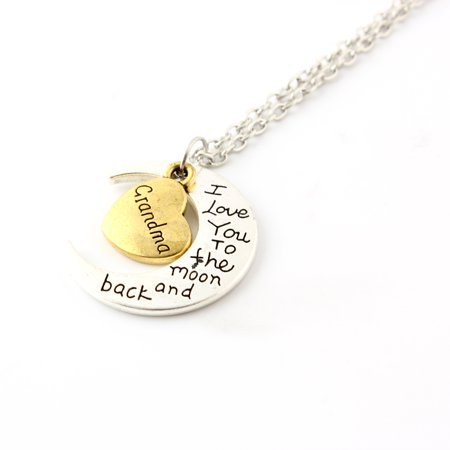 Fashion Jewelry I Love You Family Mom Birthday Gift Pendant Necklace for Women Girl - Grandma (Mom Fashion)