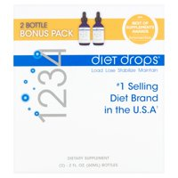 Creative Bioscience 1234 Diet Drops Appetite Suppressant Supplement, 2 Fl oz, 2 Ct