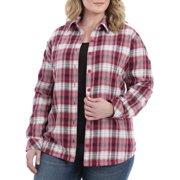 7044154017f Lee Riders Women s Plus Fleece Lined Flannel Shirt