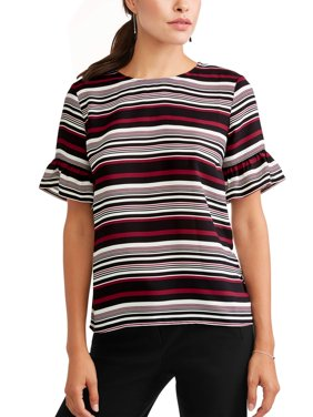 Women's Short Sleeve Frill Top