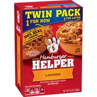 (3 Pack) Hamburger Helper Lasagna  & Italian-Style Sauce Mix Twin Pack 14.1 oz
