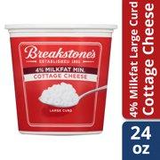 Breakstone's Large Curd 4% Milk fat Min Cottage Cheese, 24 oz Tub