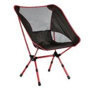 Costway Adjule Aluminum Folding Camping Chair Seat Fishing Hiking Beach Outdoor Bag
