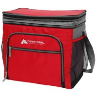 Ozark Trail 36-Can Expandable Top Soft-Sided Cooler. Red