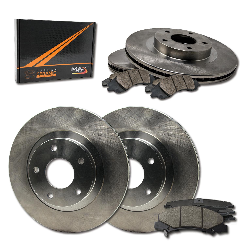 Rear Disc Rotors /& Ceramic Brake Pads Fits Hyundai Santa Fe