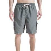 7cdda5fbf1 LELINTA Mens Big Extended Size Swim Trunks, Mens Board Shorts and Swimming  Trunks for the