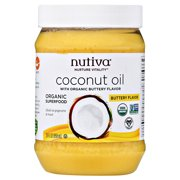 Nutiva Organic Coconut Oil Buttery Flavor, 29 fl oz