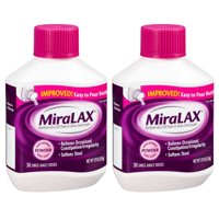 (2 Pack) MiraLAX Polyethylene Glycol 3350 Powder Laxative, 17.9 Oz, 30 Dose