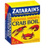 Zatarain's Crawfish, Shrimp & Crab Boil (Pack of 6), 3 oz