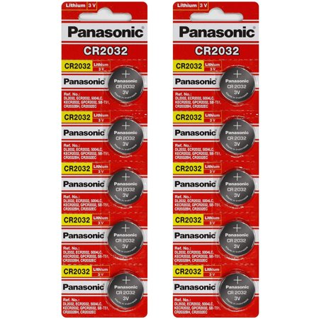 Cr2032 Lithium Button Cell Battery - Panasonic CR2032 3V Lithium Coin Battery - 10 Pack + FREE SHIPPING!