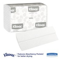 Kleenex C-Fold White Paper Towels, 150/Pack, 16 Packs/Case - KCC01500