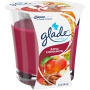 Glade Jar Candle Air Freshener, Apple Cinnamon, 3.4 oz