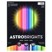 Astrobrights Color Paper, 8.5 x 11, 24 lb, Spectrum Assort., 150 Shts