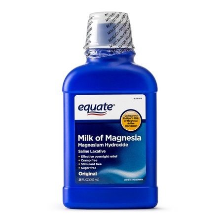 Equate Milk of Magnesia Saline Laxative, Original Flavor, 1200 mg, 26 fl oz