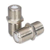 Onn Coax Cable Extension Adapter, 2 Pack