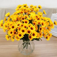 Artificial flowers walmart product image girl12queen 1 bouquet 15 heads 7 branches artificial faux silk sunflower home party decor mightylinksfo