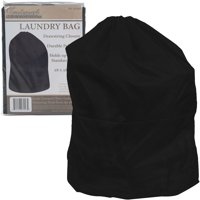Heavy Duty Laundry Bag-Jumbo Tear Resistant Nylon Hamper Liner with Drawstring for Dorms, Apartments, Storage or Travel by Trademark Home (Black)