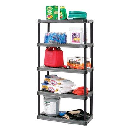 Plano 5 Shelf 36in x 18in x 73.75in Storage Shelving Organizer - Garage Organizer Kit