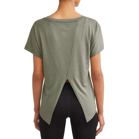 Women's Athleisure Fashion Split Back Tee