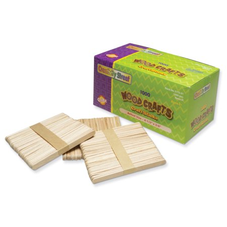 "Creativity Street Wooden Craft Sticks, 4.5"", Regular, Natural, 1000/Pkg."