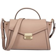 23f5479811cc0f Michael Kors Whitney Medium Leather Satchel - Fawn