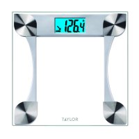 Taylor 7595 Digital Glass Bathroom Scale with 2 User Memory