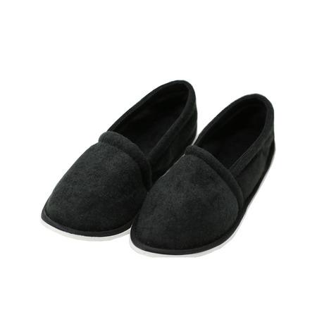 Easy USA Women's Terry Slip On House Slippers](White Ballet Slippers)