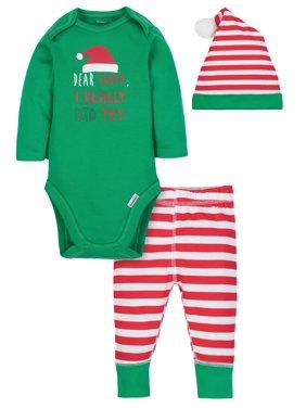 Gerber Onesies Bodysuit, Pants & Cap, 3pc Set (Baby Boys)