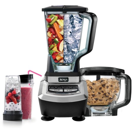 Ninja Supra Kitchen Blender System with Food Processor, (Best Blender For Berry Seeds)