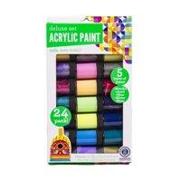 Deluxe Premium Acrylic Paint Set, 24 Pack