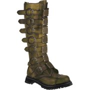 6c16d87669e Mens Knee High Combat Boots Metal Plates Bronze Rub Off Leather MENS SIZING
