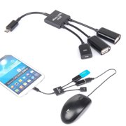 TSV Dual Micro USB 2.0 Host OTG HUB Adapter Connector Splitter Cable For Samsung Galaxy S3