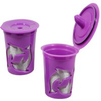 NEW Keurig 2.0 Coffee Filter Basket Reusable K-Cups Pack 2 Refillable Purple
