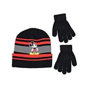 68230613ff428 Disney Mickey Mouse Boys Beanie Winter Hat Glove Set