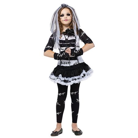 Monster Bride Girls Cute Horror Halloween Costume](Zombie Bride Kids)