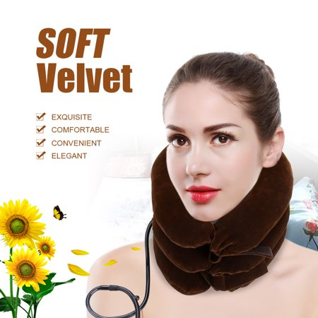 Dilwe Air Inflatable Pillow Cervical Neck Traction Device For Easing Muscle Pain, Cervical Traction,Neck Traction