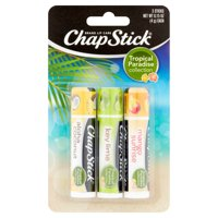 (3 pack) ChapStick Tropical Paradise Collection Lip Balm, 3 Pack