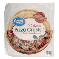 (2 Pack) Great Value Pizza Crusts, Original, 2 Count
