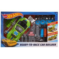 Hot Wheels Ready-To-Race Car Builder - 29 Pieces